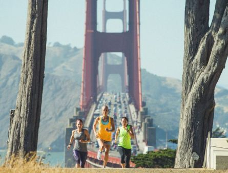 real athletes running in SF