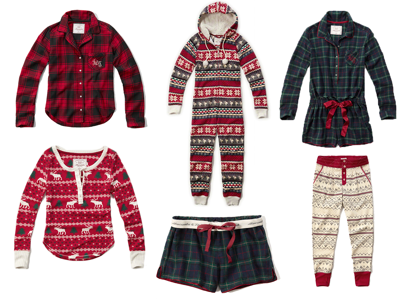 on the hunt for: christmas jammies – beauty & the beach